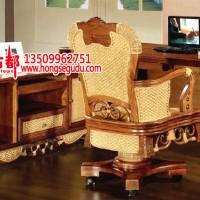 藤办公桌带副柜藤办公转椅藤大班桌藤老板桌62
