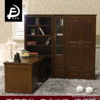 工厂店直销2015爆款美式乡村板式家具组合防尘书柜