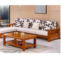 鸿佳108#实木布艺沙发  进口橡木床头  柜实木现代中式家具床头柜 现代中式家具床头柜